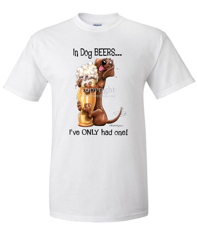 Dachshund - Dog Beers - T-Shirt
