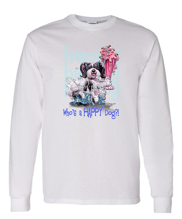 Havanese - Who's A Happy Dog - Long Sleeve T-Shirt