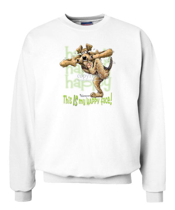 Airedale Terrier - 2 - Who's A Happy Dog - Sweatshirt