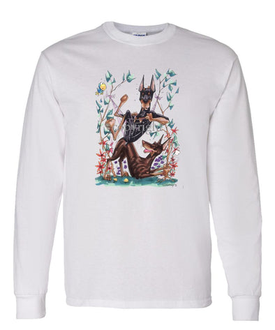 Doberman Pinscher - Group Hommock - Caricature - Long Sleeve T-Shirt