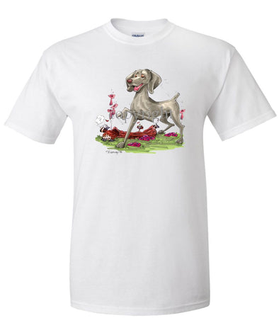 Weimaraner - Pointing - Caricature - T-Shirt