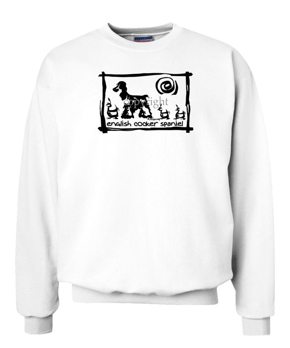 English Cocker Spaniel - Cavern Canine - Sweatshirt