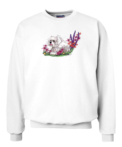 West Highland Terrier - Flowers - Caricature - Sweatshirt