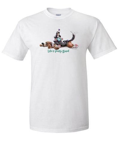 Basset Hound - Life Is Pretty Good - T-Shirt