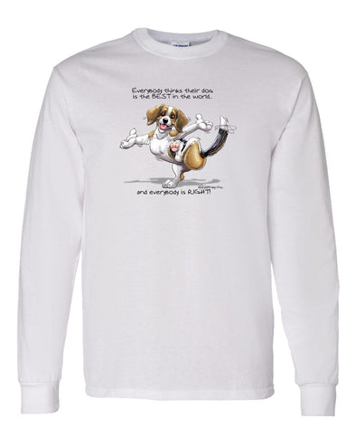 Beagle - Best Dog in the World - Long Sleeve T-Shirt