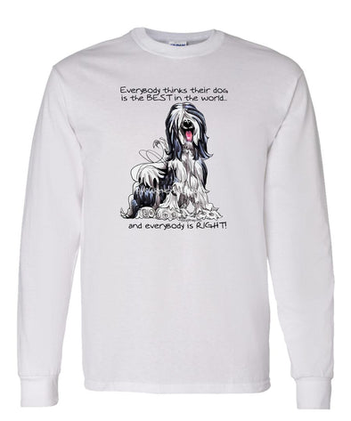 Tibetan Terrier - Best Dog in the World - Long Sleeve T-Shirt