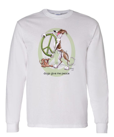 Greyhound - Peace Dogs - Long Sleeve T-Shirt
