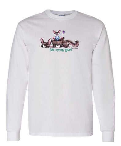Welsh Corgi Cardigan - Life Is Pretty Good - Long Sleeve T-Shirt