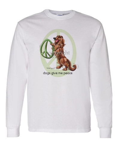 Dachshund  Longhaired - Peace Dogs - Long Sleeve T-Shirt