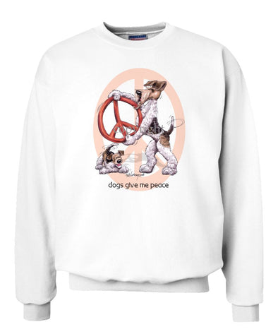 Wire Fox Terrier - Peace Dogs - Sweatshirt