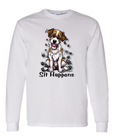 Parson Russell Terrier - Sit Happens - Long Sleeve T-Shirt