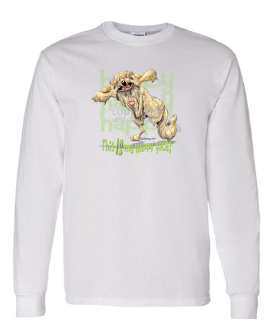 Golden Retriever - 2 - Who's A Happy Dog - Long Sleeve T-Shirt