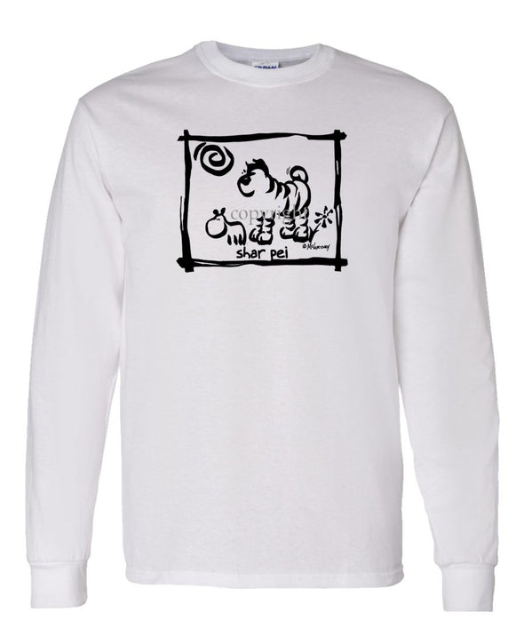 Shar Pei - Cavern Canine - Long Sleeve T-Shirt