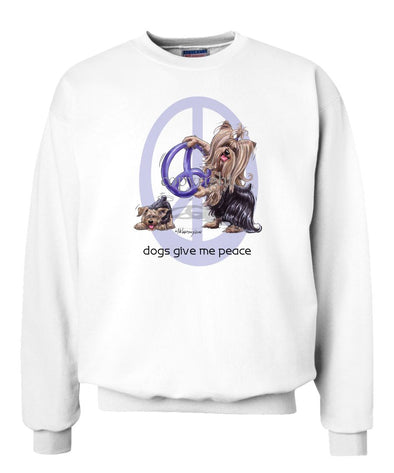 Yorkshire Terrier - Peace Dogs - Sweatshirt