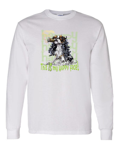 English Toy Spaniel - Who's A Happy Dog - Long Sleeve T-Shirt