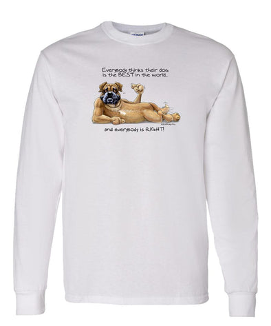 Bullmastiff - Best Dog in the World - Long Sleeve T-Shirt
