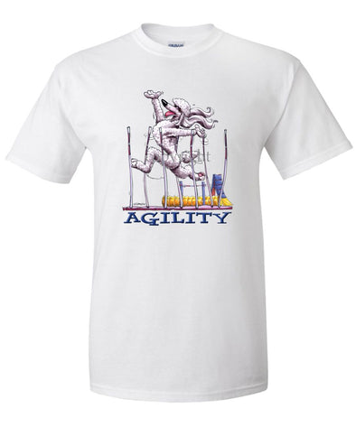 Poodle  White - Agility Weave II - T-Shirt