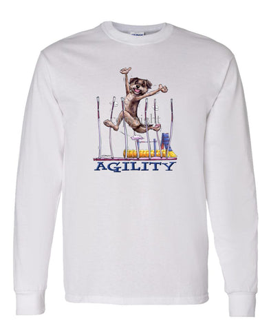 Border Terrier - Agility Weave II - Long Sleeve T-Shirt