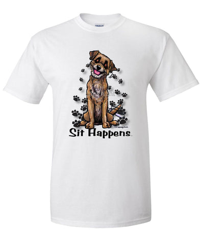 Border Terrier - Sit Happens - T-Shirt