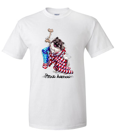 Keeshond - Proud American - T-Shirt