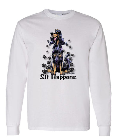 Gordon Setter - Sit Happens - Long Sleeve T-Shirt