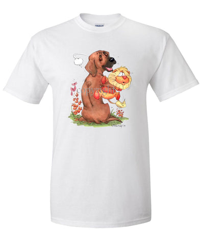 Rhodesian Ridgeback - Stuffed Lion - Caricature - T-Shirt