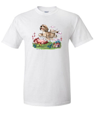 Lhasa Apso - Puppy - Caricature - T-Shirt