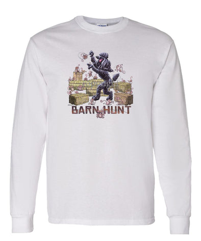 Poodle  Black - Barnhunt - Long Sleeve T-Shirt