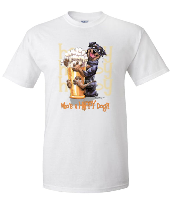 Rottweiler - Who's A Happy Dog - T-Shirt