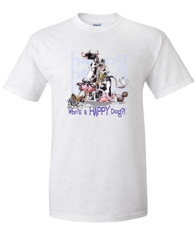 Australian Shepherd  Blue Merle - Who's A Happy Dog - T-Shirt