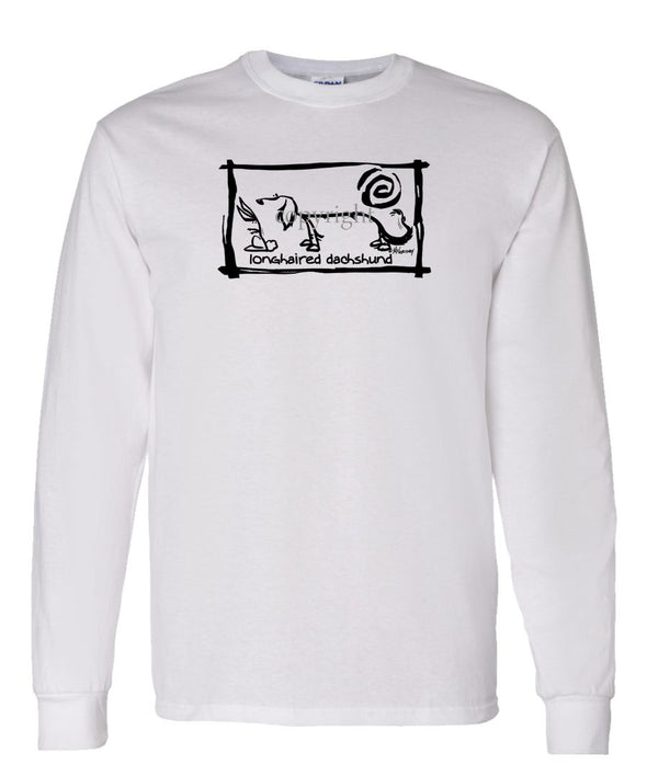Dachshund  Longhaired - Cavern Canine - Long Sleeve T-Shirt