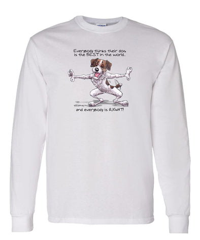 Jack Russell Terrier - Best Dog in the World - Long Sleeve T-Shirt