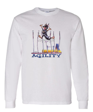 Miniature Pinscher - Agility Weave II - Long Sleeve T-Shirt