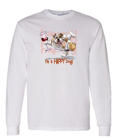Bulldog - 2 - Who's A Happy Dog - Long Sleeve T-Shirt