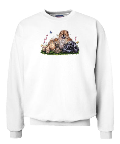 Chow Chow - Group - Caricature - Sweatshirt