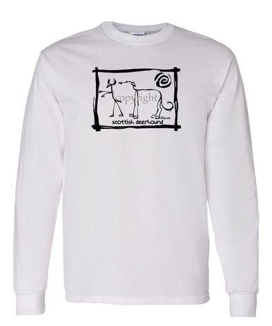 Scottish Deerhound - Cavern Canine - Long Sleeve T-Shirt