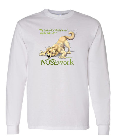 Labrador Retriever  Yellow - Nosework - Long Sleeve T-Shirt