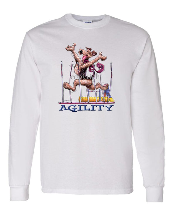 Airedale Terrier - Agility Weave II - Long Sleeve T-Shirt