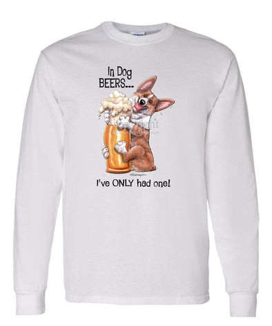 Welsh Corgi Pembroke - Dog Beers - Long Sleeve T-Shirt
