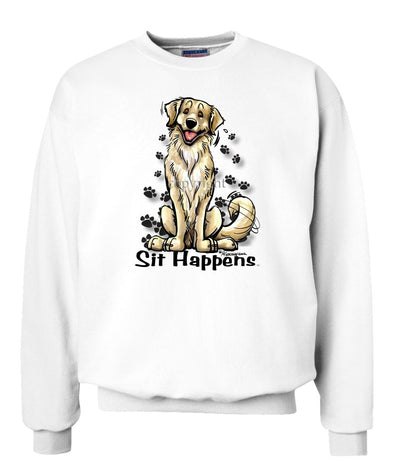 Golden Retriever - Sit Happens - Sweatshirt