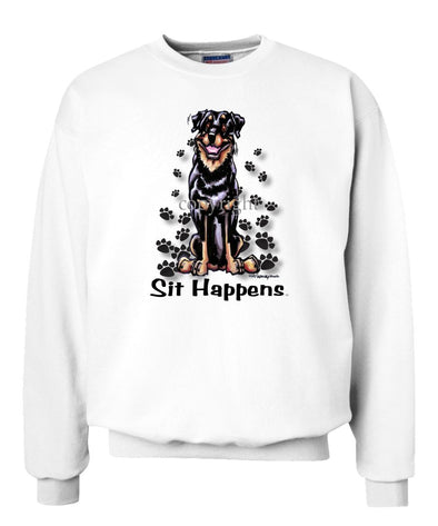Rottweiler - Sit Happens - Sweatshirt