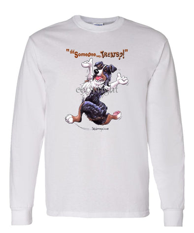 Australian Shepherd  Black Tri - Treats - Long Sleeve T-Shirt