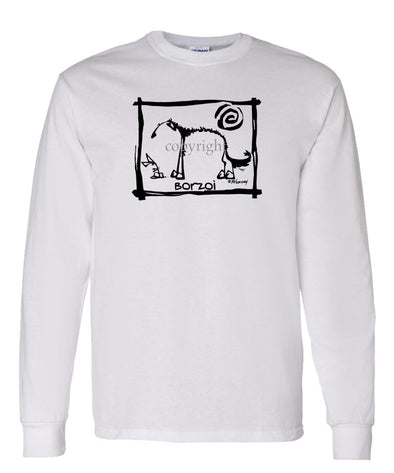 Borzoi - Cavern Canine - Long Sleeve T-Shirt