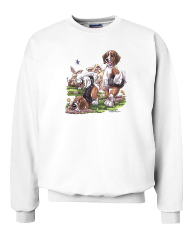 Beagle - Digging With Rabbits - Caricature - Sweatshirt