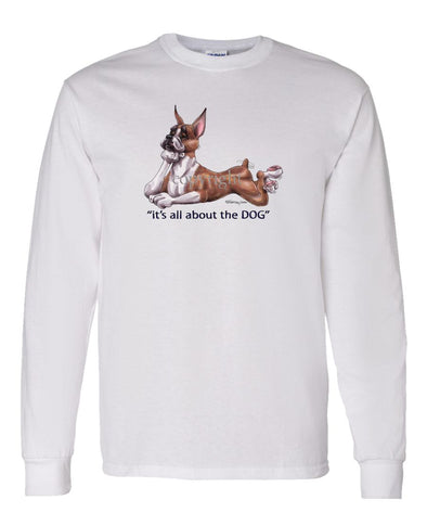 Boxer - All About The Dog - Long Sleeve T-Shirt
