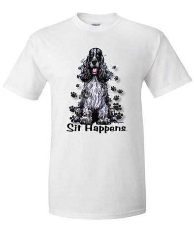 English Cocker Spaniel - Sit Happens - T-Shirt