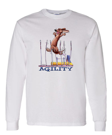 Dachshund  Smooth - Agility Weave II - Long Sleeve T-Shirt