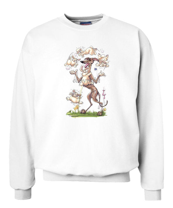 Greyhound - Juggling Rabbits - Caricature - Sweatshirt