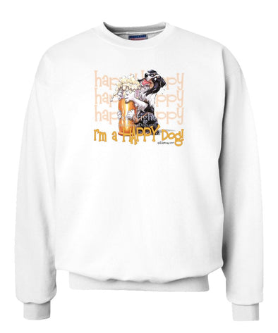 Australian Shepherd  Black Tri - 2 - Who's A Happy Dog - Sweatshirt
