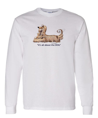 Afghan Hound - All About The Dog - Long Sleeve T-Shirt